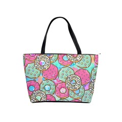 Donuts Pattern Shoulder Handbags