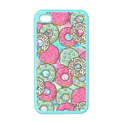 Donuts Pattern Apple Iphone 4 Case (color)