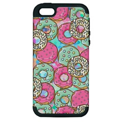 Donuts Pattern Apple Iphone 5 Hardshell Case (pc+silicone)