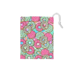 Donuts Pattern Drawstring Pouches (small)