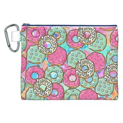 Donuts Pattern Canvas Cosmetic Bag (xxl)