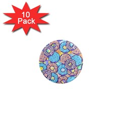Donuts Pattern 1  Mini Magnet (10 Pack)