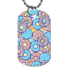 Donuts Pattern Dog Tag (one Side)