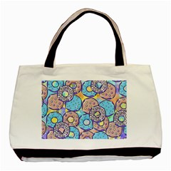 Donuts Pattern Basic Tote Bag