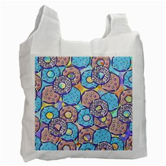 Donuts Pattern Recycle Bag (two Side)