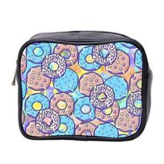 Donuts Pattern Mini Toiletries Bag 2 Side