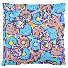 Donuts Pattern Large Flano Cushion Case (two Sides)
