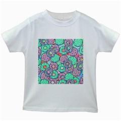 Donuts Pattern Kids White T Shirts