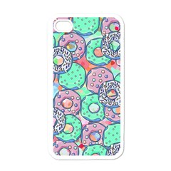 Donuts Pattern Apple Iphone 4 Case (white)