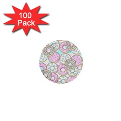 Donuts Pattern 1  Mini Buttons (100 Pack)