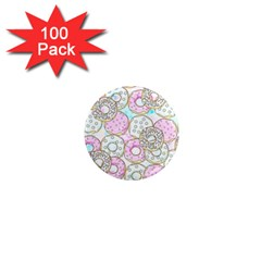 Donuts Pattern 1  Mini Magnets (100 Pack)