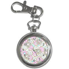 Donuts Pattern Key Chain Watches