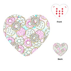 Donuts Pattern Playing Cards (heart)