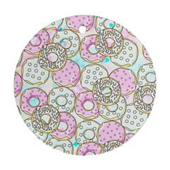 Donuts Pattern Round Ornament (two Sides)