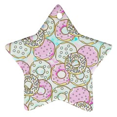 Donuts Pattern Star Ornament (two Sides)