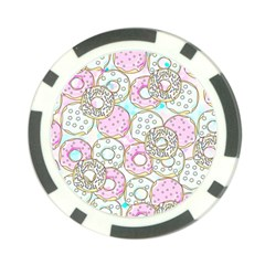Donuts Pattern Poker Chip Card Guard (10 Pack)