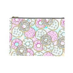 Donuts Pattern Cosmetic Bag (large)