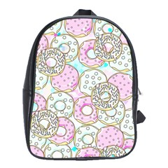 Donuts Pattern School Bag (xl)