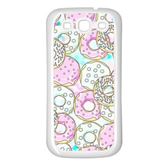 Donuts Pattern Samsung Galaxy S3 Back Case (white)