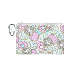 Donuts Pattern Canvas Cosmetic Bag (s)