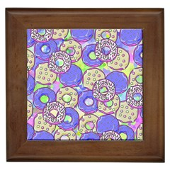 Donuts Pattern Framed Tiles