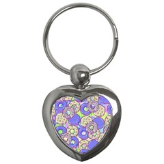 Donuts Pattern Key Chains (heart)