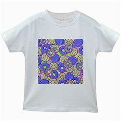 Donuts Pattern Kids White T Shirts