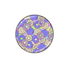 Donuts Pattern Hat Clip Ball Marker (4 Pack)