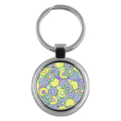 Donuts Pattern Key Chains (round)