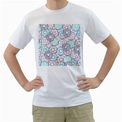 Donuts Pattern Men s T Shirt (white) (two Sided)