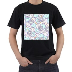 Donuts Pattern Men s T Shirt (black) (two Sided)