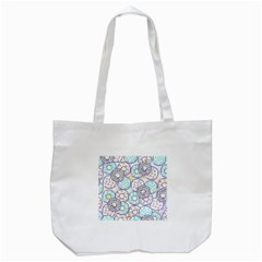 Donuts Pattern Tote Bag (white)