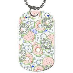 Donuts Pattern Dog Tag (two Sides)