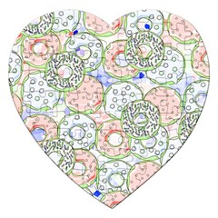 Donuts Pattern Jigsaw Puzzle (heart)