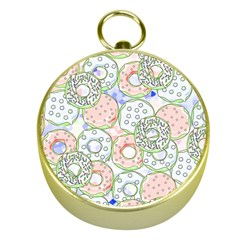 Donuts Pattern Gold Compasses