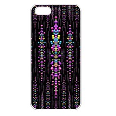 Rainbow Asteroid Pearls In The Wonderful Atmosphere Apple Iphone 5 Seamless Case (white)