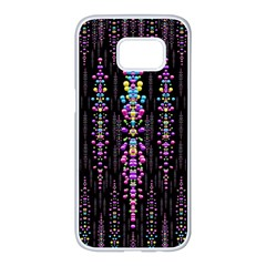Rainbow Asteroid Pearls In The Wonderful Atmosphere Samsung Galaxy S7 Edge White Seamless Case