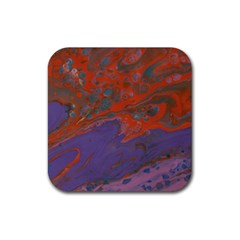 Purple Rain Img 1744 Rubber Square Coaster (4 Pack)