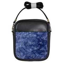 Heart Pattern Girls Sling Bags