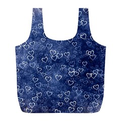 Heart Pattern Full Print Recycle Bags (l)