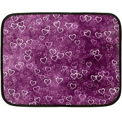 Heart Pattern Double Sided Fleece Blanket (mini)
