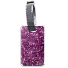 Heart Pattern Luggage Tags (one Side)