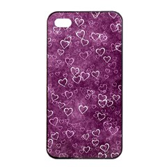 Heart Pattern Apple Iphone 4/4s Seamless Case (black)