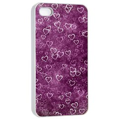 Heart Pattern Apple Iphone 4/4s Seamless Case (white)