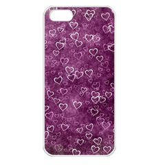 Heart Pattern Apple Iphone 5 Seamless Case (white)