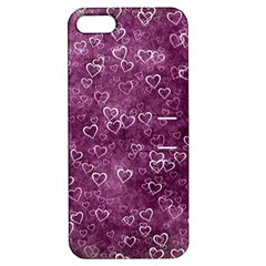 Heart Pattern Apple Iphone 5 Hardshell Case With Stand