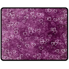 Heart Pattern Double Sided Fleece Blanket (medium)