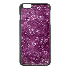 Heart Pattern Apple Iphone 6 Plus/6s Plus Black Enamel Case