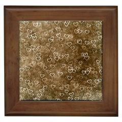Heart Pattern Framed Tiles