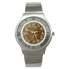 Heart Pattern Stainless Steel Watch